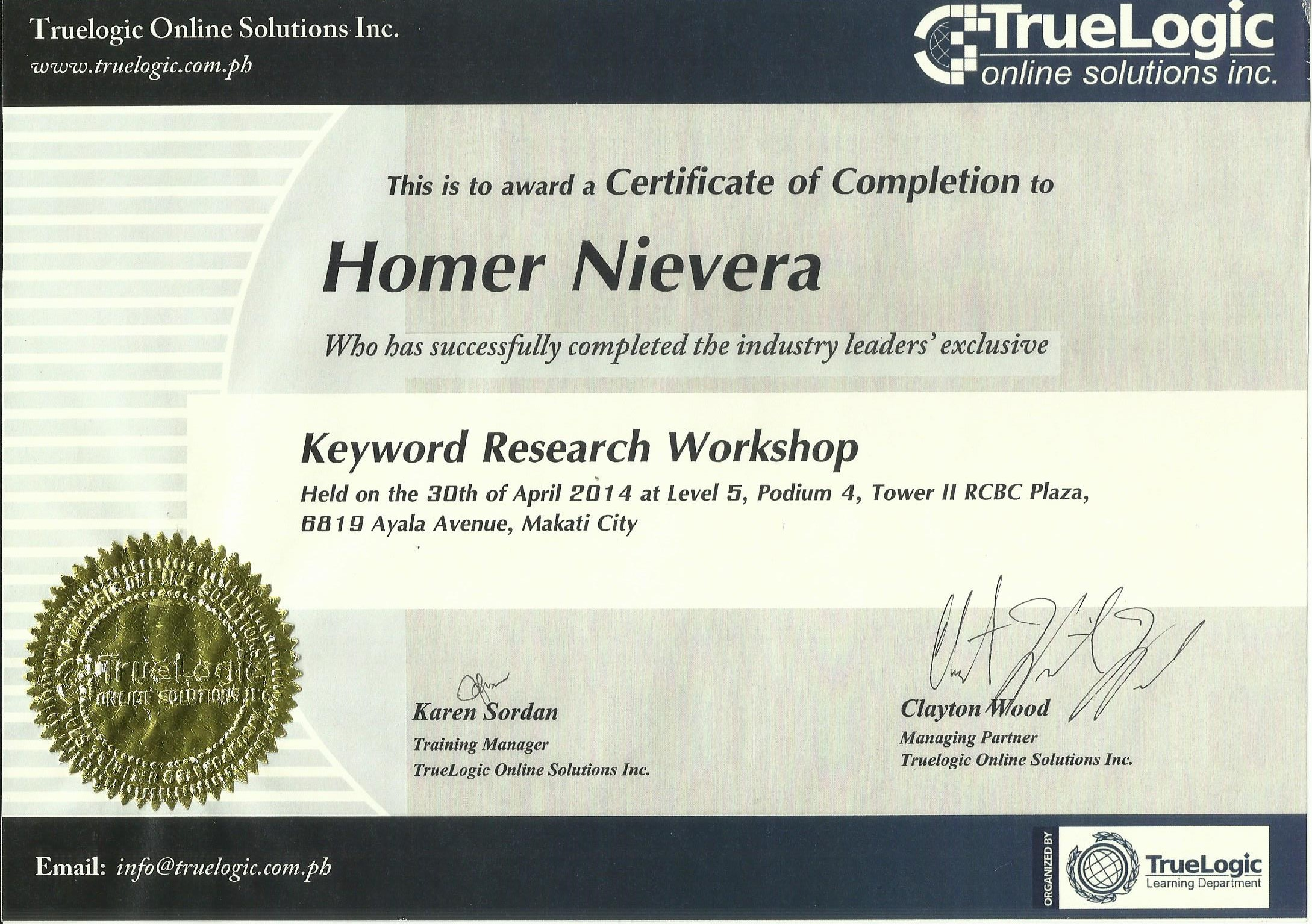 Keyword Research Cert 001