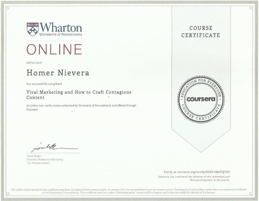 wharton certificate homer nievera
